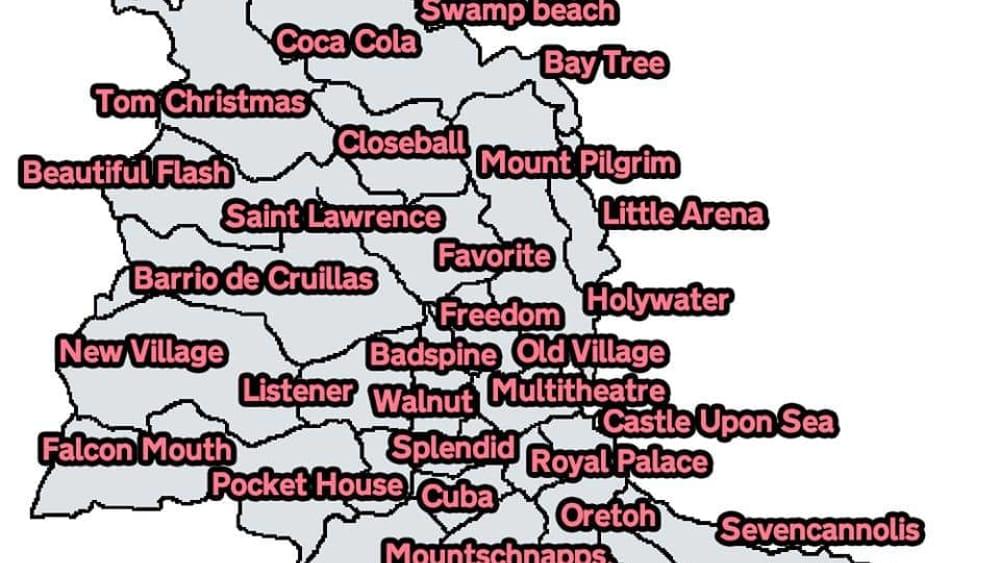 Toponomastica Sicula In Versione British La Mappa Dei Quartieri In