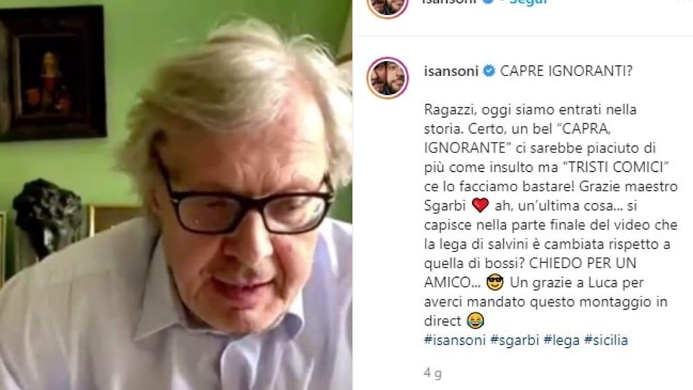 VIDEO | I Sansoni ironizzano sulla Lega, Sgarbi risponde: 'Tristi comici, sono banali...'