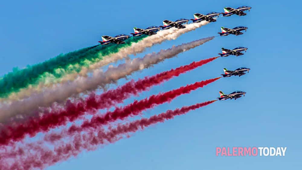 Il cielo di Palermo pronto ad accogliere di nuovo il volo delle Frecce Tricolori